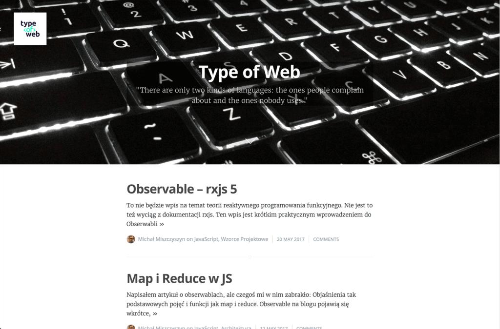 Stary wygląd Type of Web