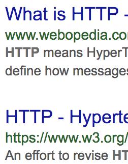 Wyniki wyszukiwania zHTTPS ibezHTTPS