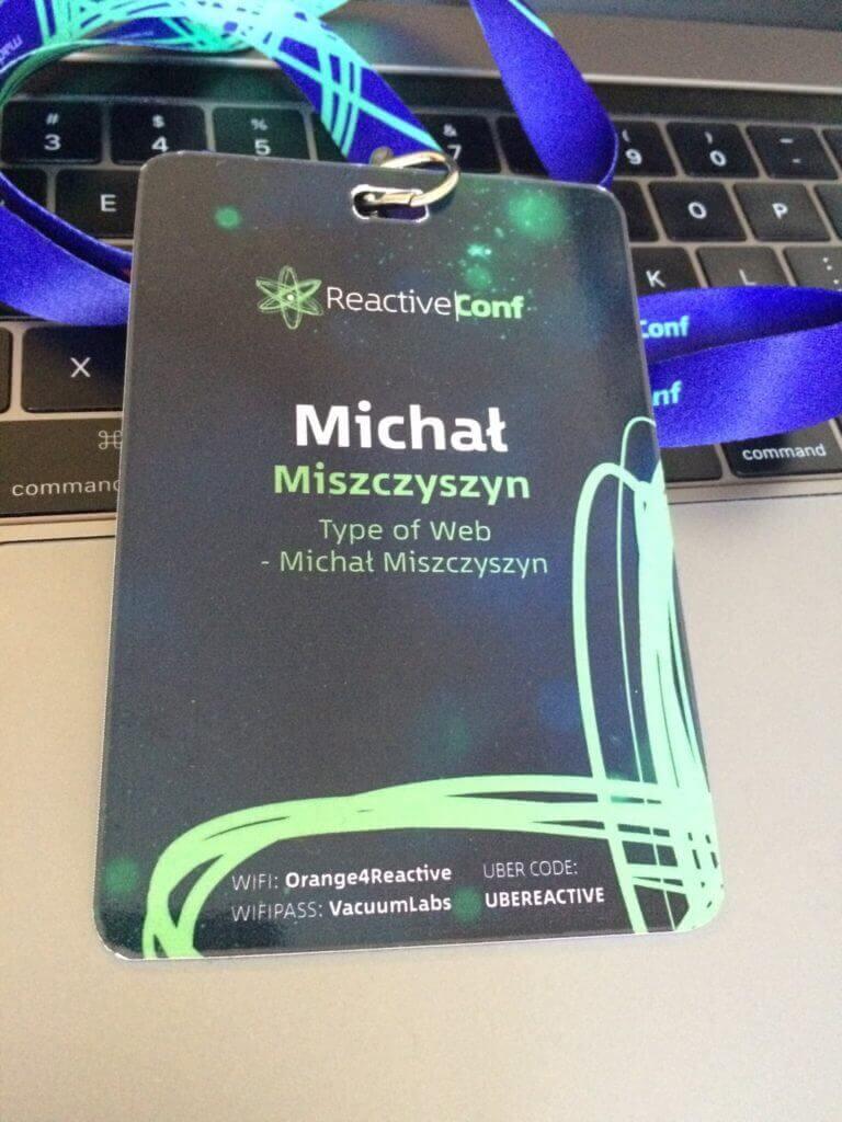 Identyfikator Reactive Conf 2017