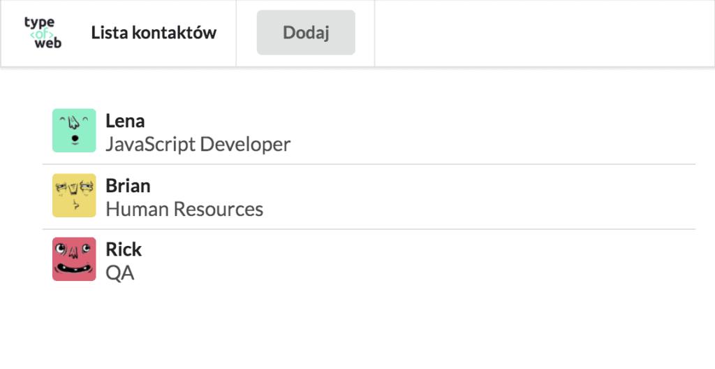 Komponenty wReact.js iJSX