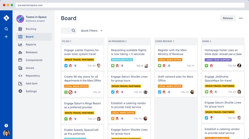 Screenshot przedstawiający Jira.com